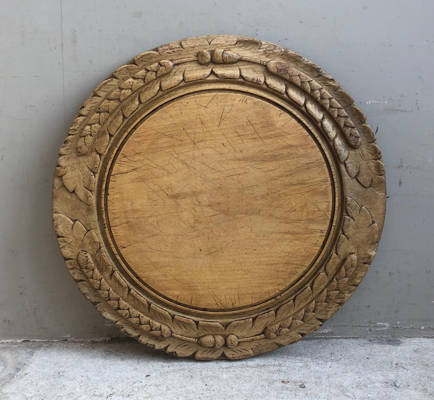 Late Victorian Deeply Carved Bread Board