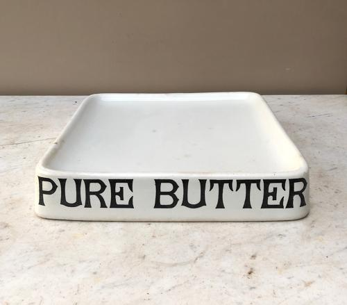 Edwardian Parnalls White Ironstone Grocers Slab - Pure Butter