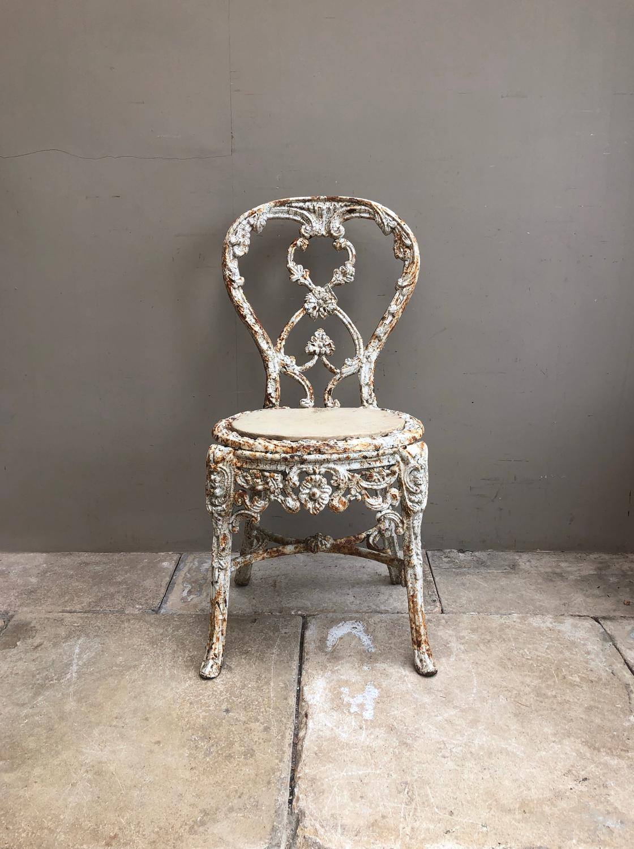 Victorian Cast Iron Garden or Conservatory Chair.