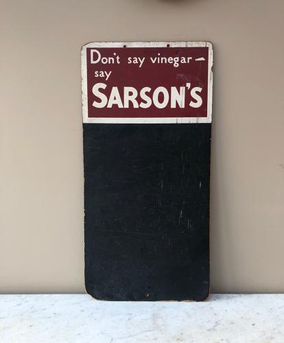 Advertising Blackboard Memo Board - Sarsons Vinegar