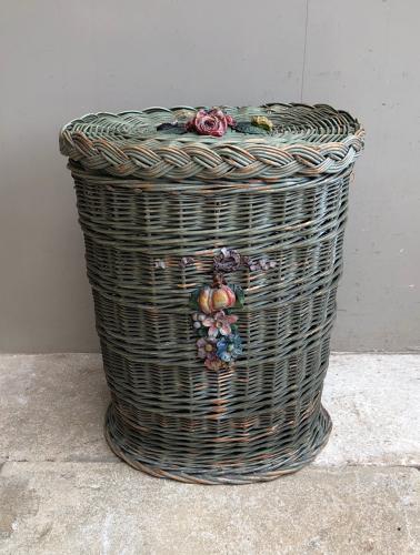 Early 20th Century Laundry Basket - Original Paint