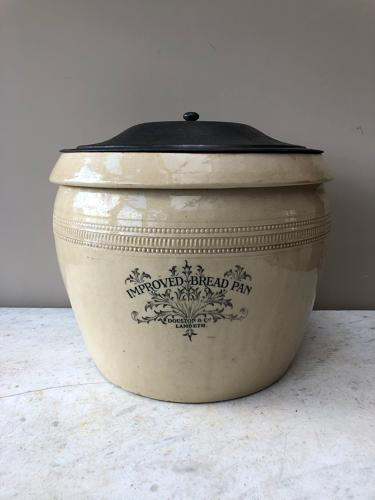 Victorian Doulton Family Size 4 Bread Bin - Improved Bread Pan