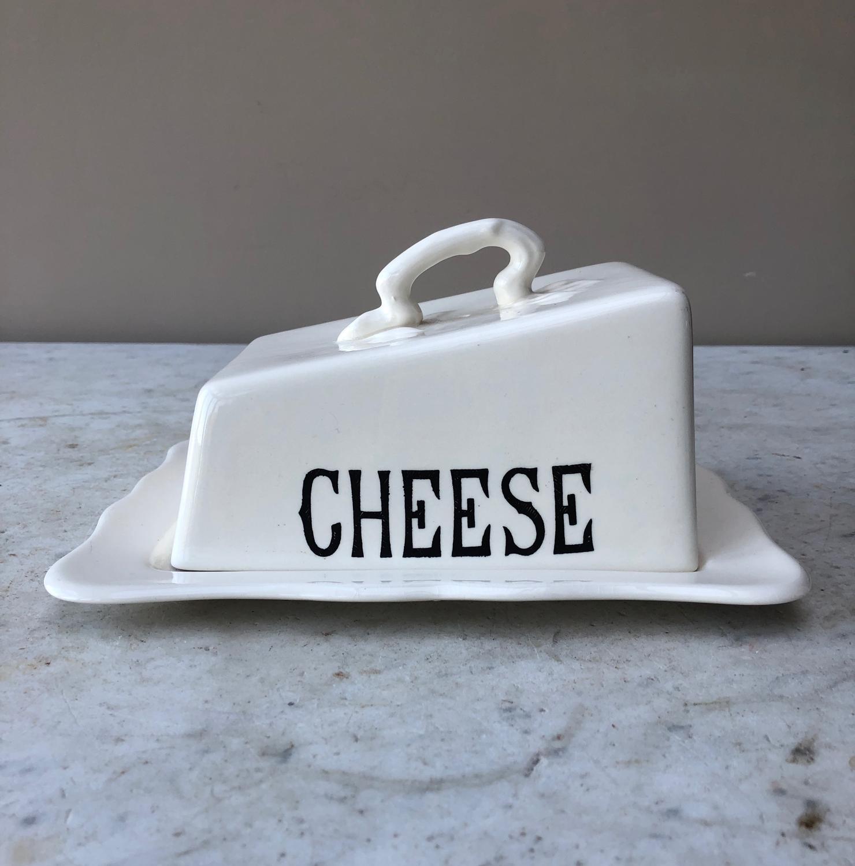 Mid Century Masons Cheese Dish & Stand