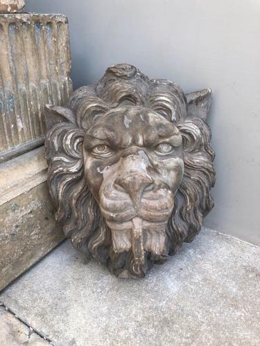 Late Victorian Carved Faded Oak Lions Head - Beautiful Detail