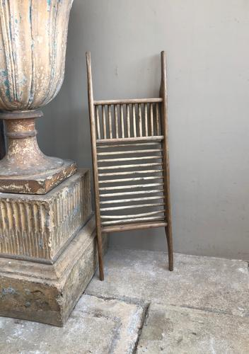 Antique Wooden Bath Rack