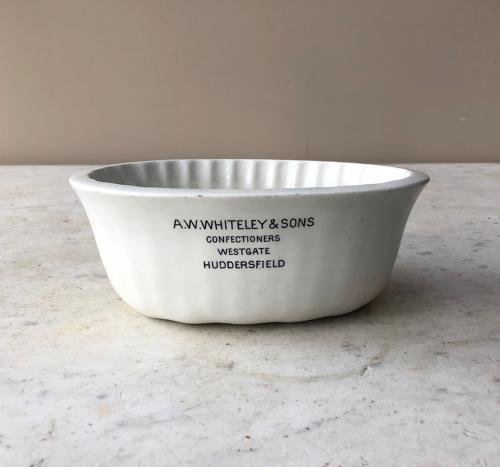 Rare White Ironstone Confectioners Advertising Mould - Copeland Stamp