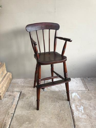 Victorian Childs Stick Back High Chair