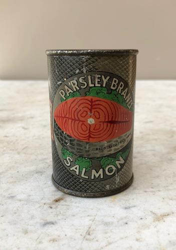 Edwardian Advertising Tin - Parsley Brand Salmon Money Box