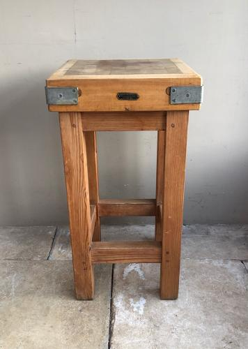 Antique Maple Rushbrooke (Smithfield) Butchers Block on Original Base