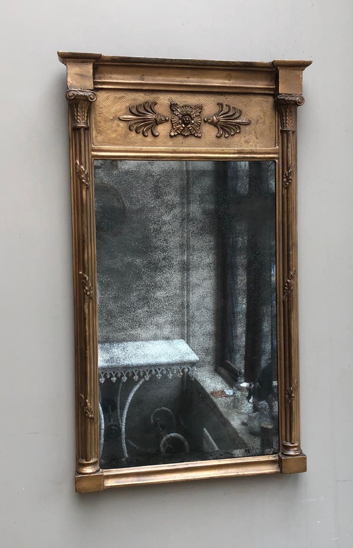 Regency Giltwood Pier Mirror with Original Mercury Mirror