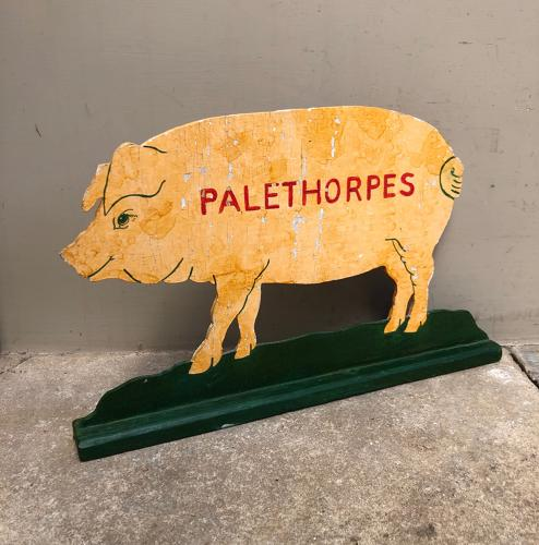 Mid Century Painted Advertising Pig - Palethorpes