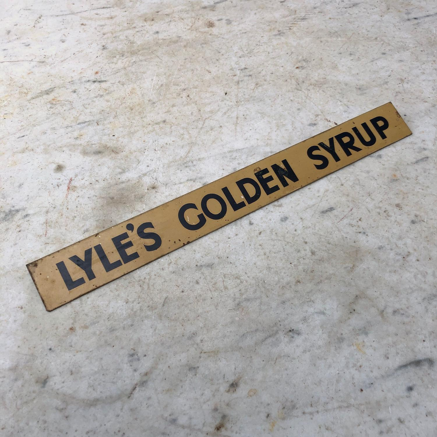 Excellent Condition Shops Advertising Shelf Strip - Lyles Golden Syrup