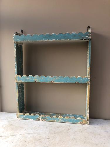 Early 20thC Pretty Hand Scraped Pine Wall Shelves