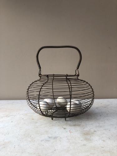 Wire Work Egg Basket c.1940