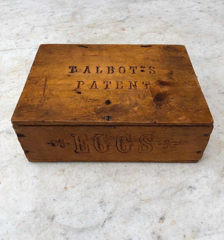 1920s Pine Travelling Eggs Box - Talbot's Patent