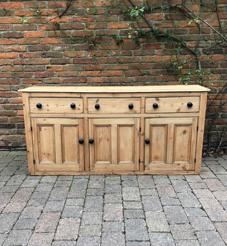 Victorian Pine Base with Three Cupboards & Three Drawers