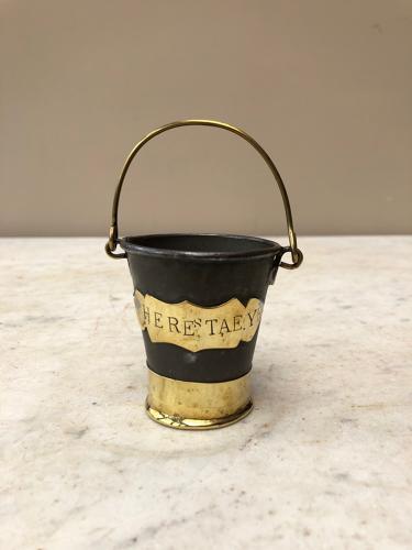 Victorian Scottish Brass Bound Whiskey Tumbler - Heres Taeye