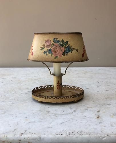 Early 20th Century Toleware Candle Lamp
