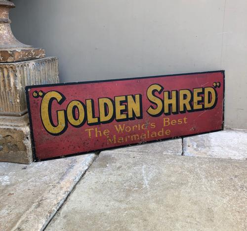 Early 20th Century Advertising Sign - Golden Shred