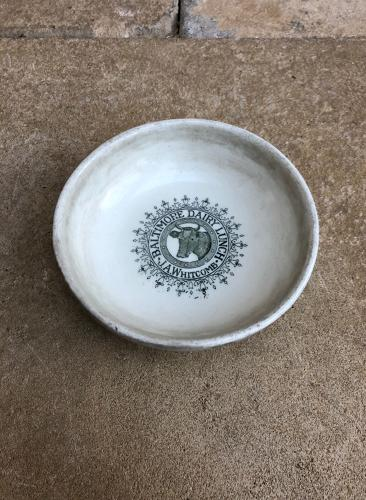 1920s English Baltimore Dairy Lunch Bowl