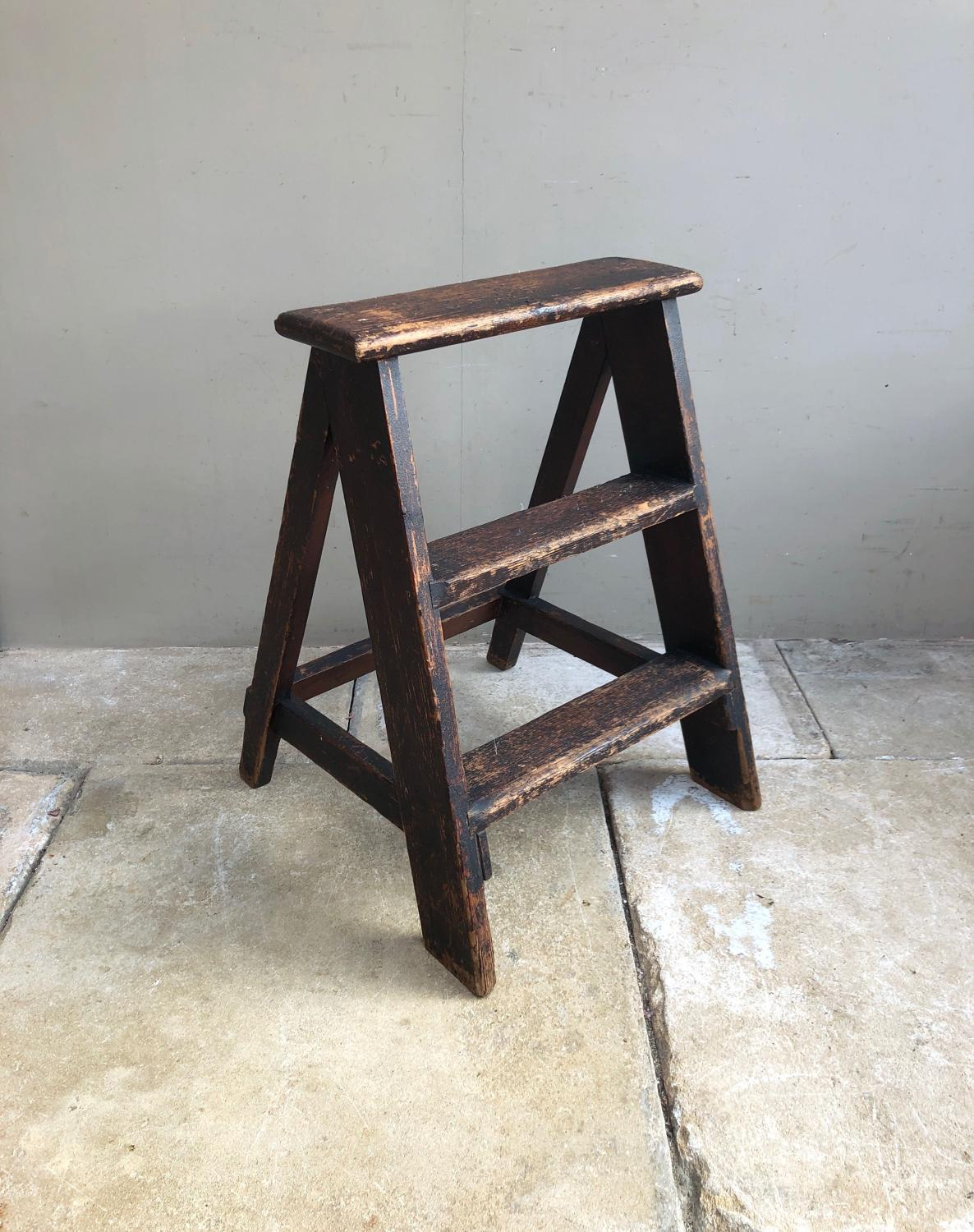 Early 20th Century Pine Steps - Great Shop Display - Original Paint