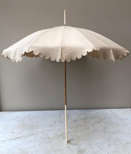 Superb Quality & Condition Late Victorian Silk & Ivory Parasol
