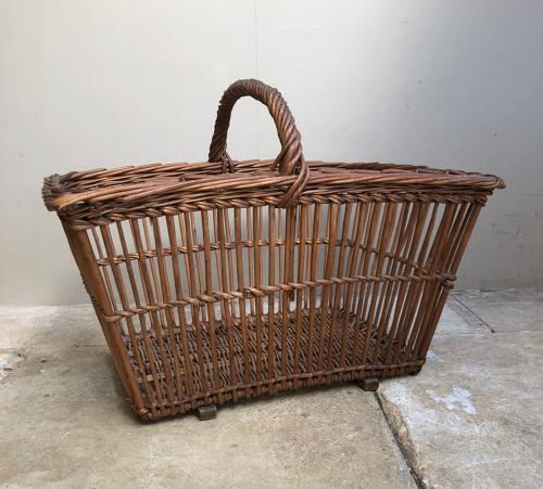 Huge Edwardian Basket