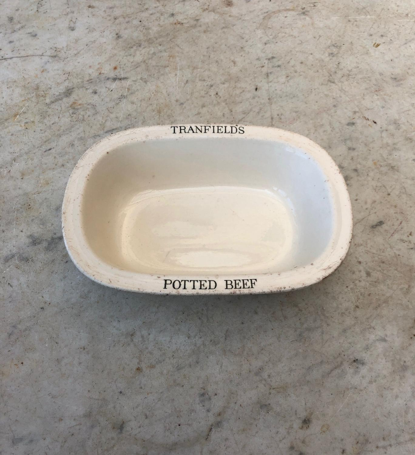 Edwardian Copeland Spode Butchers Dish - Tranfields Potted Beef