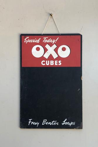 1940/50s Shops Advertising Blackboard - Oxo Cubes