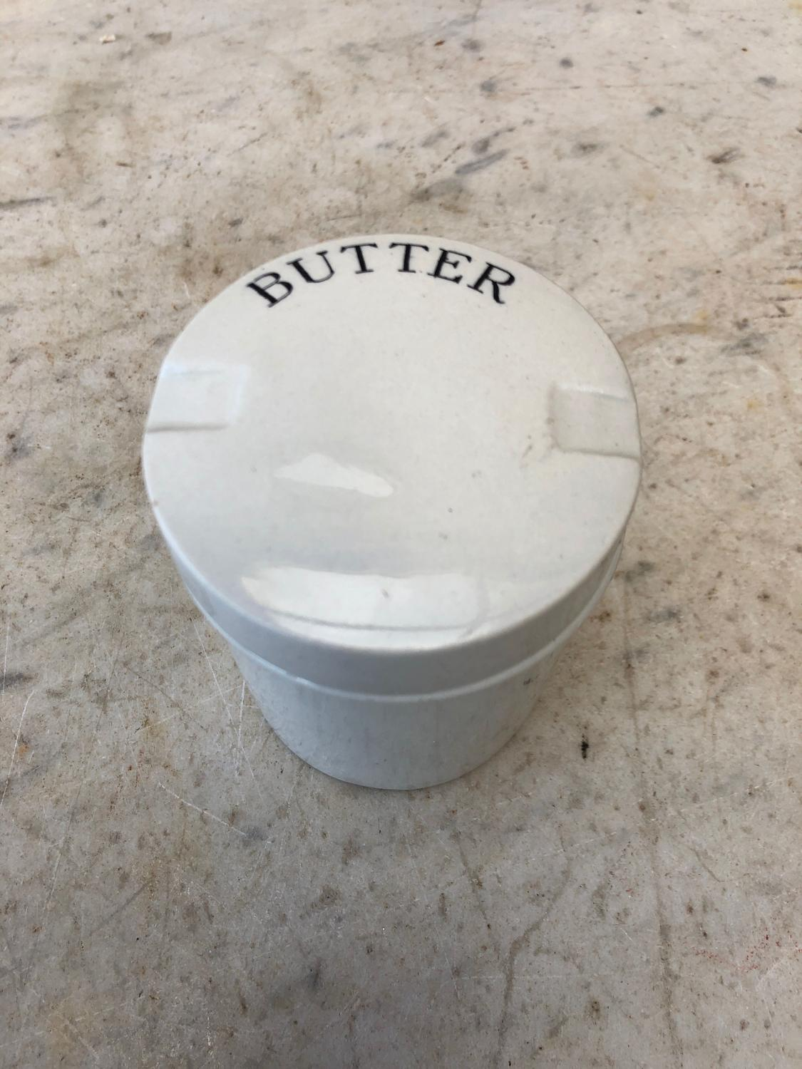Edwardian White Ironstone Butter Pot - Superb Condition