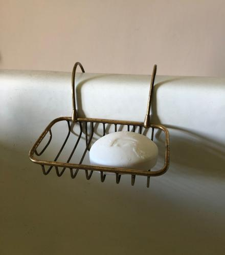 Edwardian Brass Bath Soap Rack