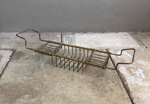 Victorian Brass Bath Rack