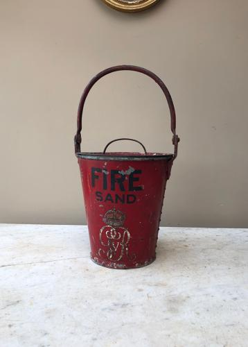 Early 20thC Fire Bucket with Original Lid - King George V