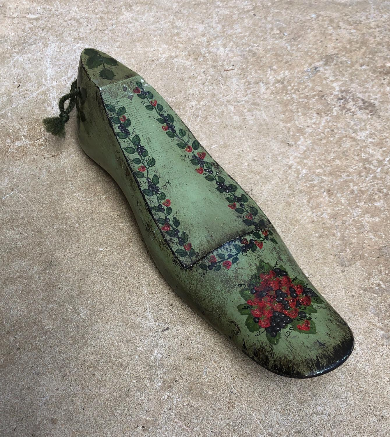 Decorative Victorian Shoe Last - Wonderful Painting