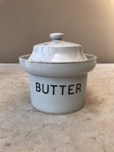 Edwardian White Ironstone Butter Dish