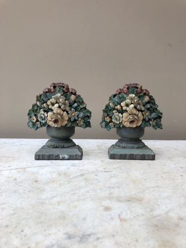 1930s Pair of Floral Bookends.