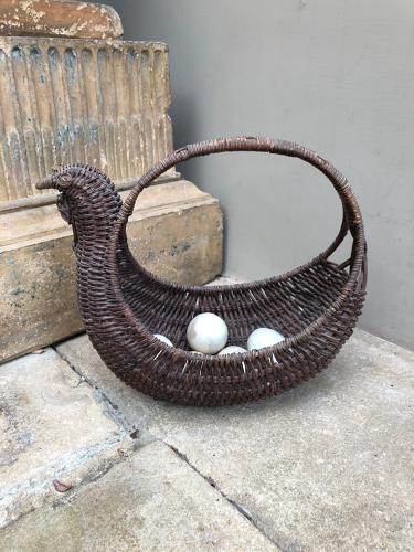 Superb Early 20thC Chicken Egg Basket