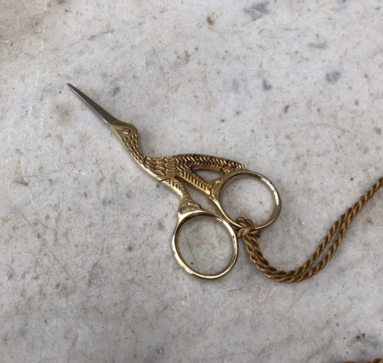 Early 20thC Bird Needlework Scissors