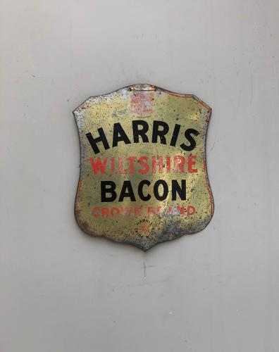 Early 20th Century Butchers Advertising Sign - Harris Wiltshire Bacon