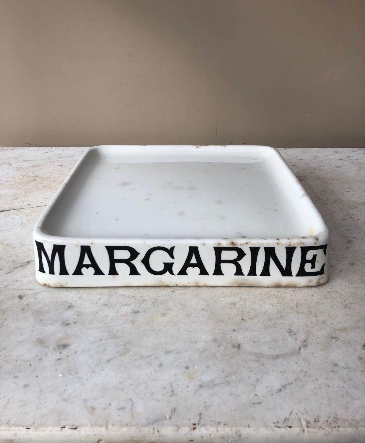 Edwardian White Ironstone Margarine Slab - Parnall Stamp