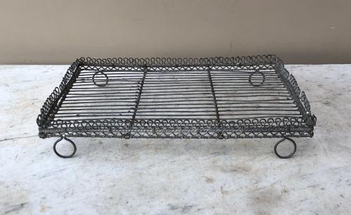Late Victorian Ornate Wire Work Glass Drying Rack or Cake Cooling Rack