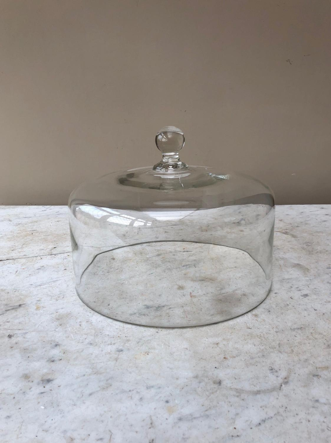 Large Antique Glass Dome in Superb Condition.