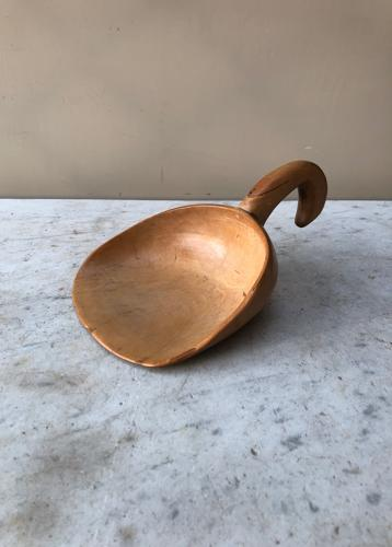 Victorian Treen Sycamore Butter Spoon