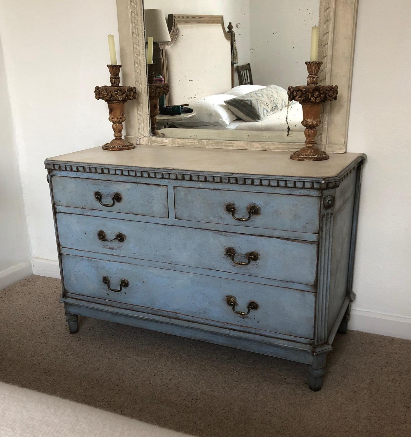 Antique Gustavian Style Chest of Four Drawers
