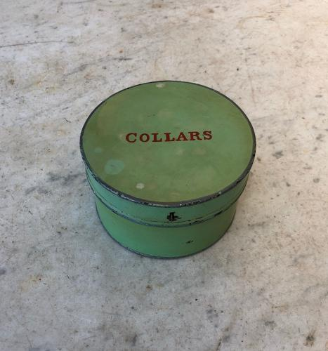 Late Victorian Toleware Collars Box - Completely Original