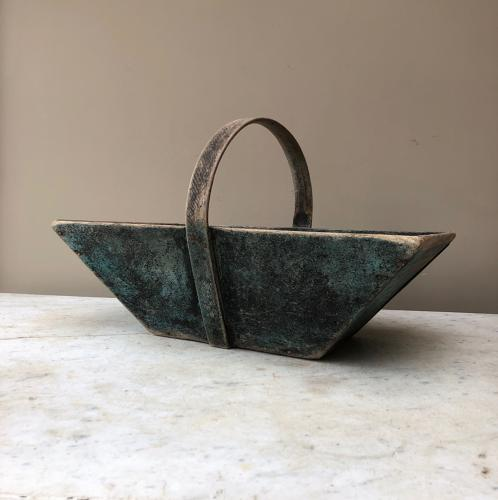 Early 20th Century Trug in Fantastic Original Paint