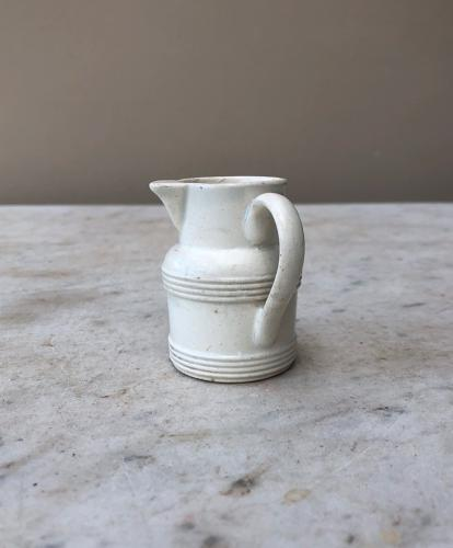 Victorian Welsh White Banded Cream Jug