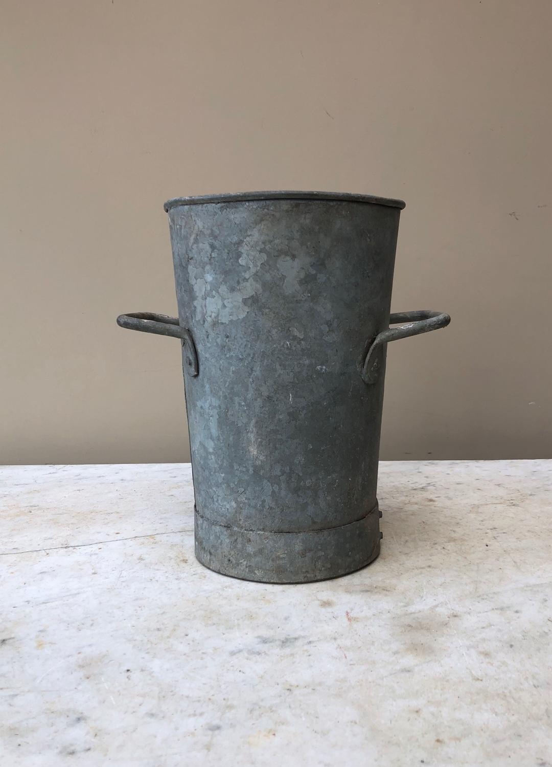 Mid Century Galvanised Florists Vase - Medium Size