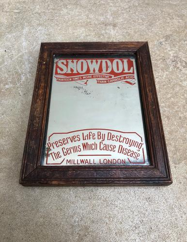 Edwardian Shops Small Advertising Mirror - Snowdol Disinfectant