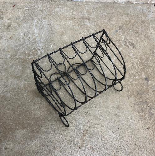 Early 20th Century Ornate Wire Work Sponge Rack